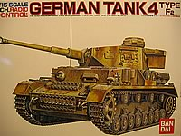 Bandai Panzer 4 1/15th Radio Controlled Model Tank Kit