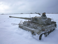 Mark 1 Tanks Tiger in the snow